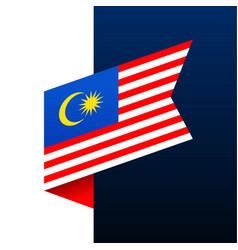 Malaysia corner flag icon national emblem vector