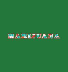 Marijuana concept word art vector