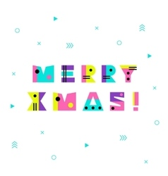 Merry Christmas Geometric Background vector image