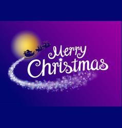 merry christmas santa typography template vector image