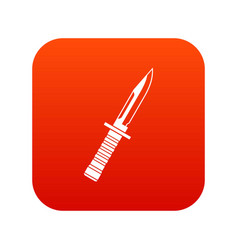 military knife icon digital red vector image