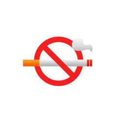 no smoking tobacco area icon stop smoke vector image