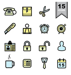 Office tools icons set vector image