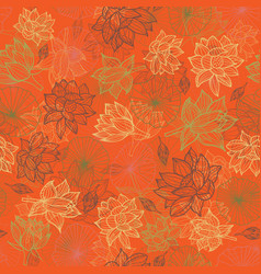 Overlapping waterlilies or lotus flowers and vector
