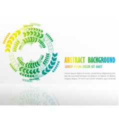 rainbow circle arrow pattern background template vector image