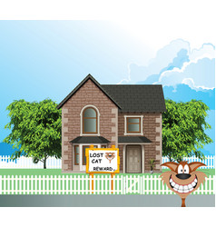 residential detached house lost cat vector image