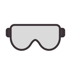 Safety goggles icon vector