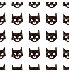 seamless pattern with cute hero mask vector image