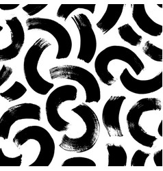 semi circles brushstrokes seamless pattern vector image
