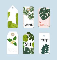 set of hand drawn summer vintage sale labels vector image