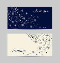 set of horizontal banners beautiful winter vector image