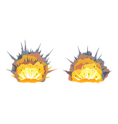 set of two bomb explosion vector image