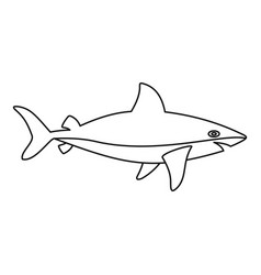 shark icon outline style vector image