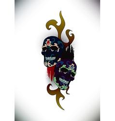 skull 05 vector image