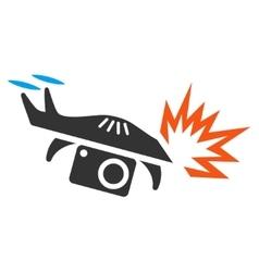 Spy Drone Explosion Icon vector