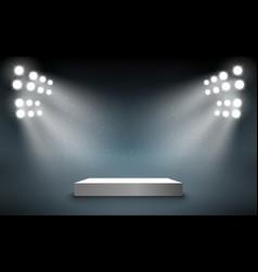 stage podium with light presentation pedestal vector image