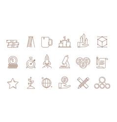 startup symbols business idea franchise creative vector image