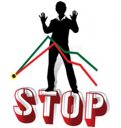stop crisis vector image