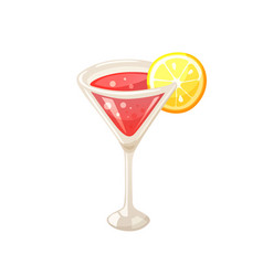 Summer cocktail icon vector