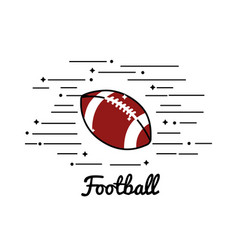 symbol football play icon vector image