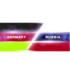 the national flag of germany and russia modern vector image