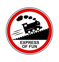 Train journey sign icon simple style vector image