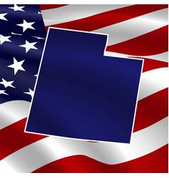 united states utah dark blue silhouette vector image
