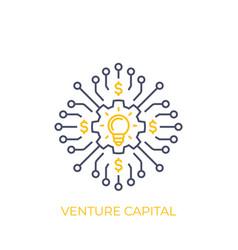 venture capital line art vector image
