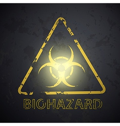 wall with a picture of the biohazard symbol vector image