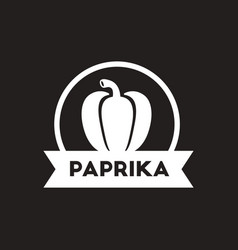 White icon on black background paprika vector