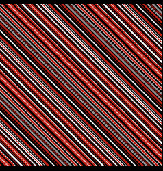 with red black and white diagonal parallel stripes vector image