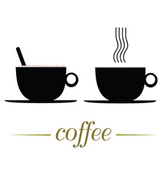 cup of coffee on a white vector image vector image