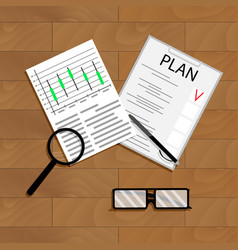 economic planning vector image