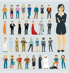 flat design people vector image
