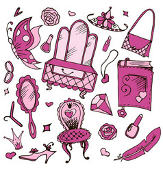 girls accessories for girls and girls vector image vector image