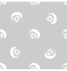 Grunge white circles on grey background vector image vector image