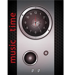 Music Time Clock vector image vector image
