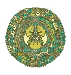 Round Ornament Pattern with a fly vector image vector image