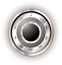 safe dial white vector image vector image