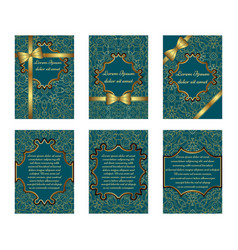 set of delicate greeting cards vector image vector image