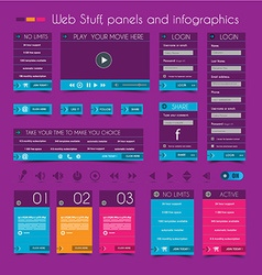 Web Design Stuff price panels vector image vector image
