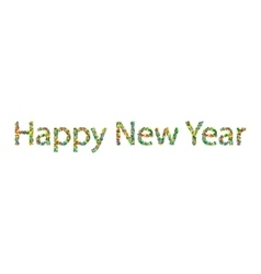 Happy New Year lettering from colourful confetti vector image