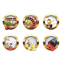 casino buttons vector image