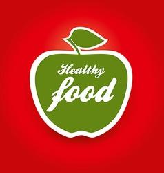 healthy food apple vector image vector image