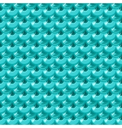 Seamless turquoise river fish scales vector image vector image