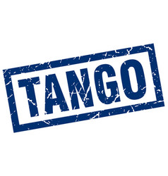 square grunge blue tango stamp vector image vector image