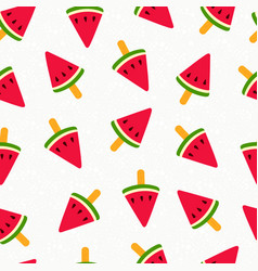 summer watermelon ice cream seamless pattern vector image