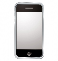 techno phone silver vector image