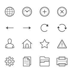 Toolbar Icons for Application and website vector image vector image