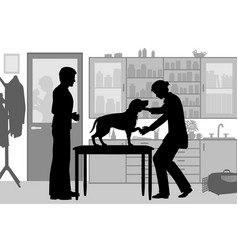 veterinary clinic vector image vector image
